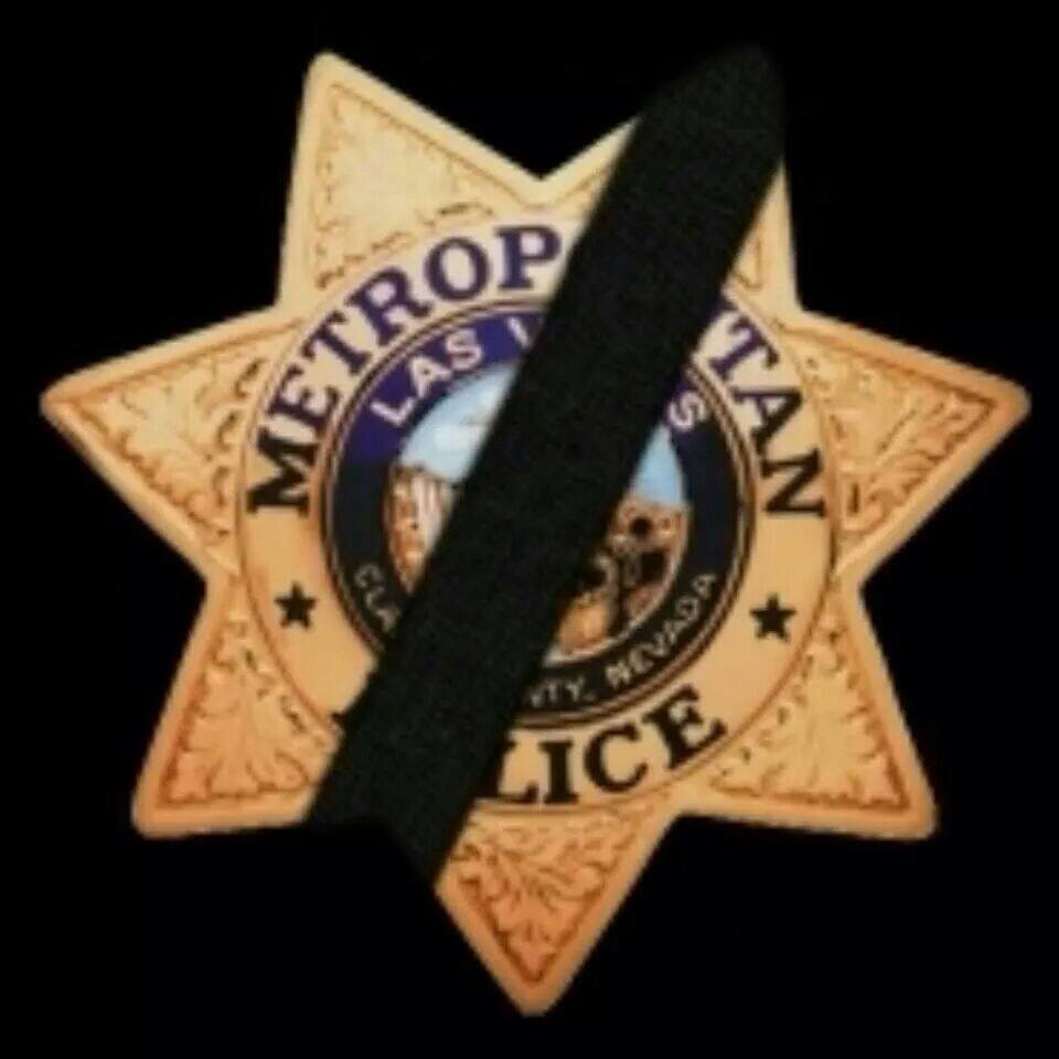 Las Vegas Metro Mourning Badge